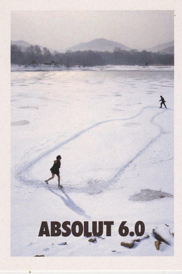 ABSOLUT 6.0 (Eislauf-Bestnote) - Absolut Vodka Sweden - Promo-Card aus Italien