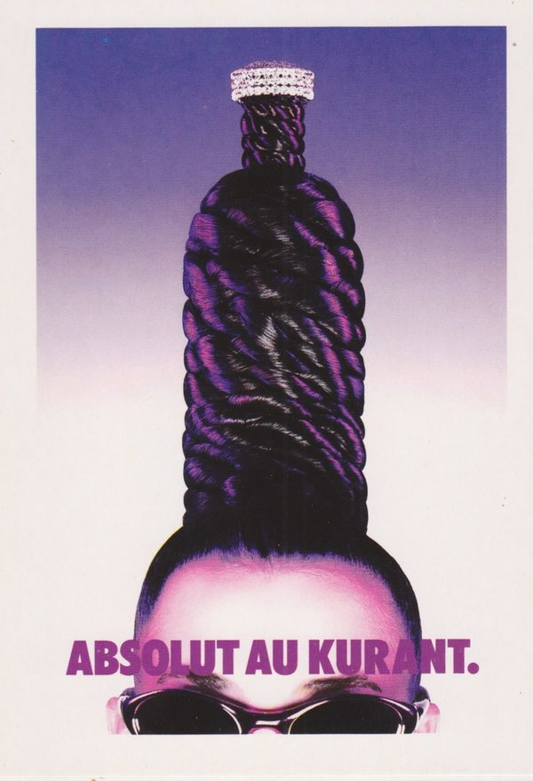 ABSOLUT AU KURANT (Modisch aktuell) - Absolut Vodka Sweden - Promo-Card aus Italien