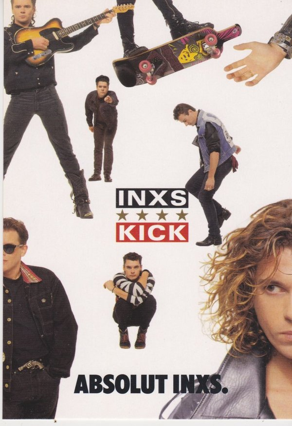 ABSOLUT INXS (Rockband) - Absolut Vodka Sweden - Promo-Card aus Italien