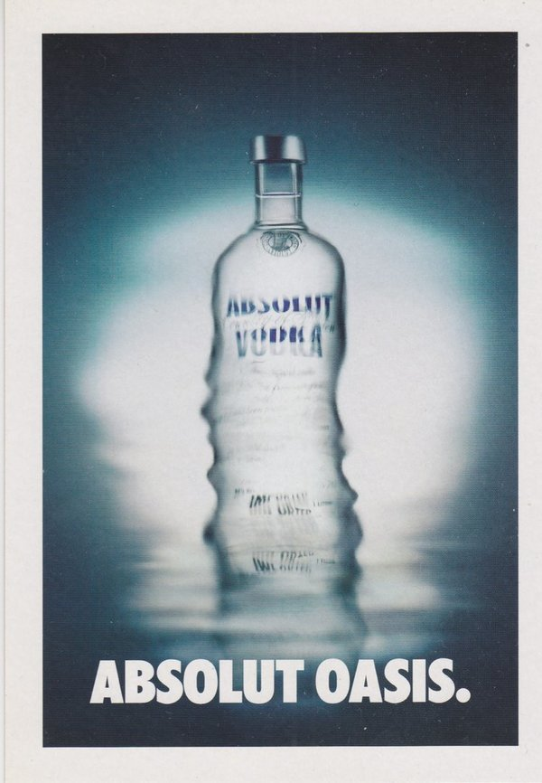 ABSOLUT OASIS (Quelle/ Fata Morgana) - Absolut Vodka Sweden - Promo-Card aus Italien
