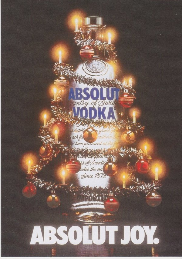 ABSOLUT JOY (Freude) - Absolut Vodka Sweden - Max-Racks-Card aus Japan