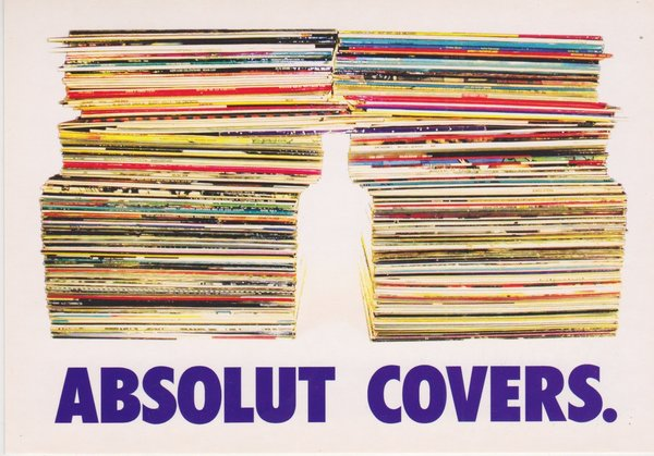 ABSOLUT COVERS (Schallplatten-Hüllen) - Absolut Vodka Sweden - Promo-Card aus Italien