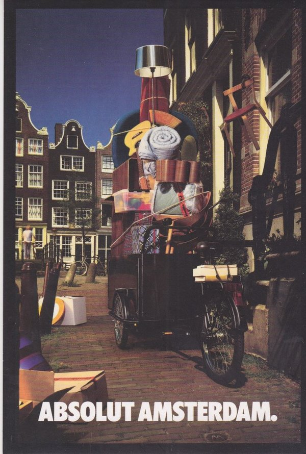 ABSOLUT AMSTERDAM (Hauptstadt Hollands) - Absolut Vodka Sweden - TBWA-Card aus Polen