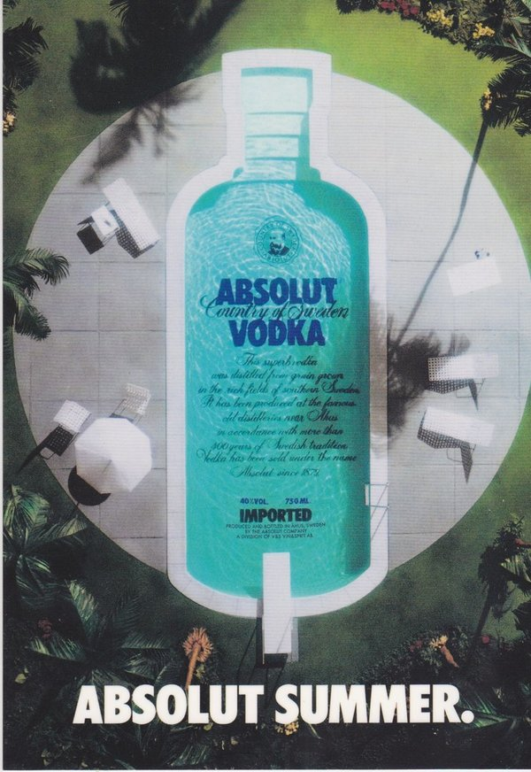 ABSOLUT SUMMER  (Sommer) - Absolut Vodka Sweden - CoolCard aus Taiwan